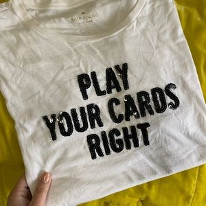 Kate Spade Play Your Cards Tee - Sz M